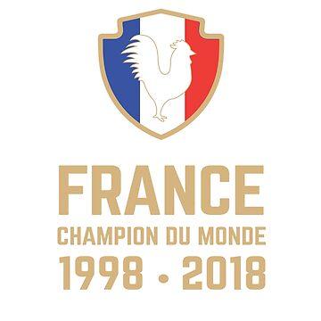 France Champion Du Monde 2018 • Les Bleus • Football World Cup Champion 2018 ID 6-3 by UNIQ-Apparel