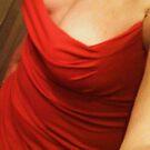 Red Dress Self Portrait by Mariam Muradian