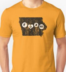 ROAM IOWA - POPULAR DISTRESSED STATE DESIGN Unisex T-Shirt