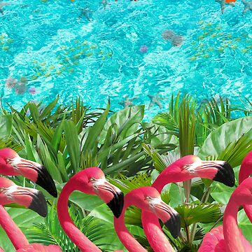 Tropical Pink Flamingo Lineup by Lord-Mothman