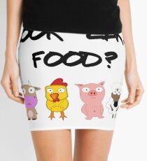Vegan Vegetarian Idiom Mini Skirt