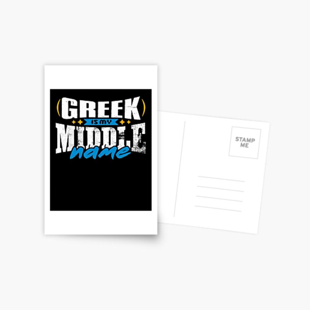 GREEK 01 Postcard