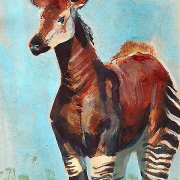 Okapi Endangered Animal Series by EricaBottger