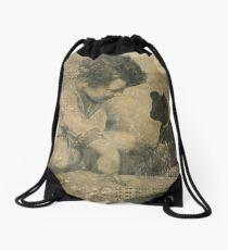 tense/past tense Drawstring Bag