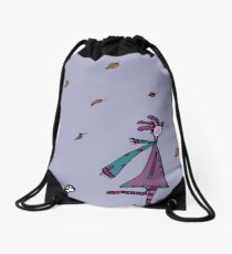 Autumn Had Found Silly. Silly Had Found Other Things... Drawstring Bag