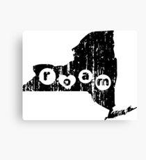 ROAM NEW YORK - POPULAR DISTRESSED STATE DESIGN Canvas Print