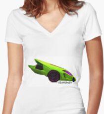 Super Car Art - Yeah Baby Women's Fitted V-Neck T-Shirt