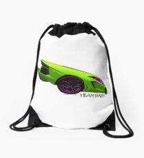 Super Car Art - Yeah Baby Drawstring Bag