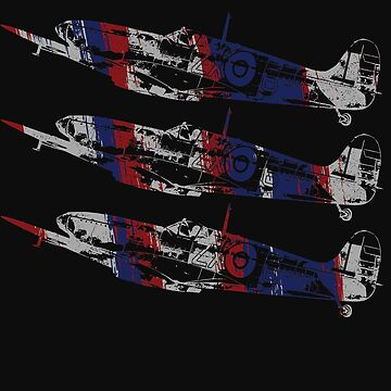 Three Spitfire British Warplanes by McThriftees