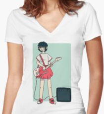 Noodle Women's Fitted V-Neck T-Shirt