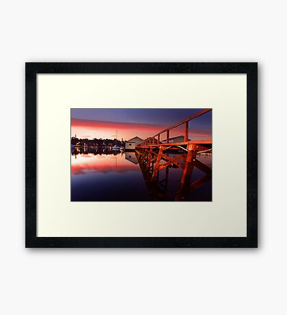Mosman Bay Boatshed  Framed Print