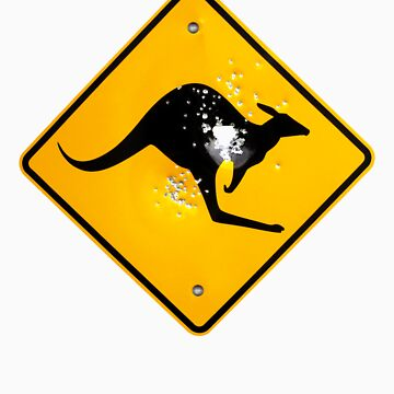 Kangaroo road sign by PeterCulley