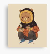 noodle bear Canvas Print