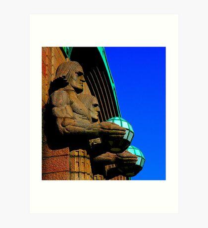 "City Life - ""The stone men"" Art Print"