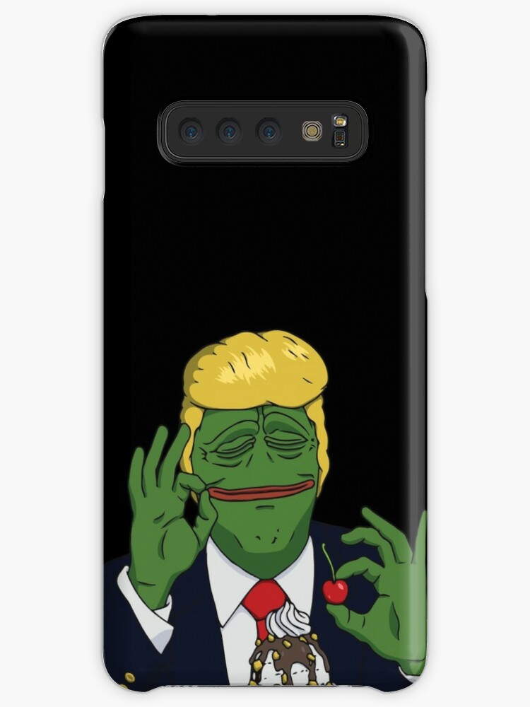 President Donald Pepe Trump the Smug Frog iphone case