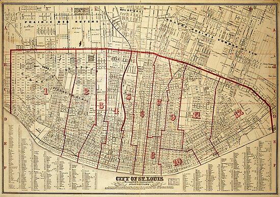 City of St. Louis, Missouri Map (1870)\