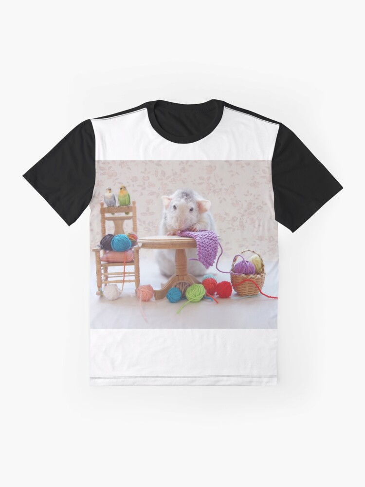 Alternate view of Rosie knitiing with friends Graphic T-Shirt