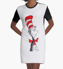 Cat in the hat II Graphic T-Shirt Dress