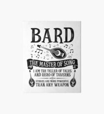 BARD, THE MASTER OF SONG - Dungeons & Dragons (Black) Art Board