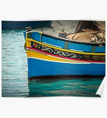 Marsaxlokk boat Malta Poster