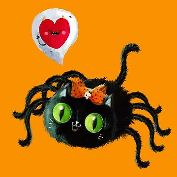 Happy Halloween Black Cat Spider by colonelle