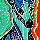 Hound Whippet Greyhound Pharaoh Ibizan Portuguese Cirneco Delletna Silken Windhound Podengo Pequeno Rat Terrier Hound Jackie Carpenter Art by Jackie Carpenter