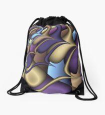 Fractal Spaceship Drawstring Bag