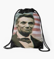 Abraham Lincoln Drawstring Bag