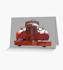 Heavy Duty Vintage Truck 1930's Greeting Card