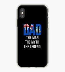 Falkland Islanders Dad The Man The Myth The Legend, Gift For Falkland Islanders Father From  Falkland Islands From Son Or Daughter -  Falkland Islands Flag in Dad iPhone Case