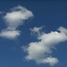Blue sky with white clouds by Ditherella