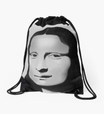 Mona Lisa Drawstring Bag