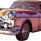 Vintage Packard Caribbean 1953 by RetroArtFactory