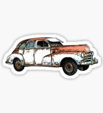 Vintage Rusty Car Sticker