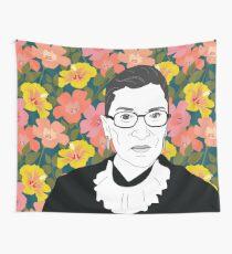 Ruth bader Ginsburg Blumen Wandbehang