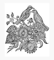 Bird Doodle - Work in Progress Photographic Print