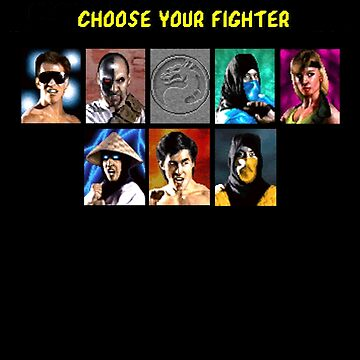 Classic Mortal Kombat - Select Fighters - Video Game (Retro) by shaz3buzz2