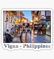 Rush Hour in Vigan City Sticker