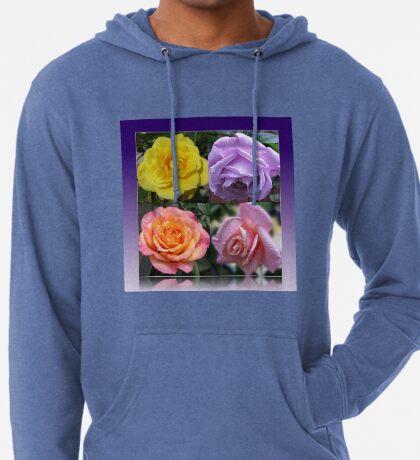 Collage mit vier Rosen Leichter Hoodie