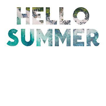 Hello Summer - Summer Vacation - Cute Teacher Shirt by bkfdesigns