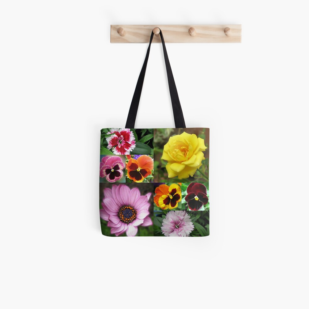 Sunkissed Summer Flowers Collage - ungerahmt Tote Bag