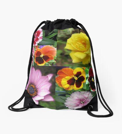 Sunkissed Summer Flowers Collage - ungerahmt Turnbeutel