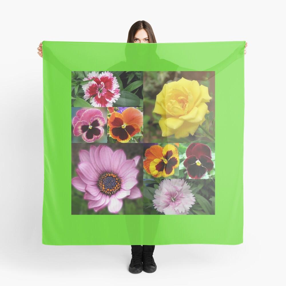 Sunkissed Summer Flowers Collage - ungerahmt Tuch