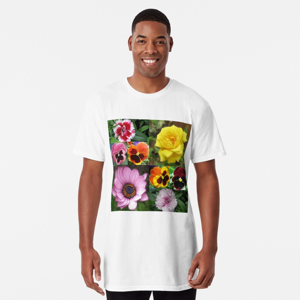 Sunkissed Summer Flowers Collage - ungerahmt Longshirt