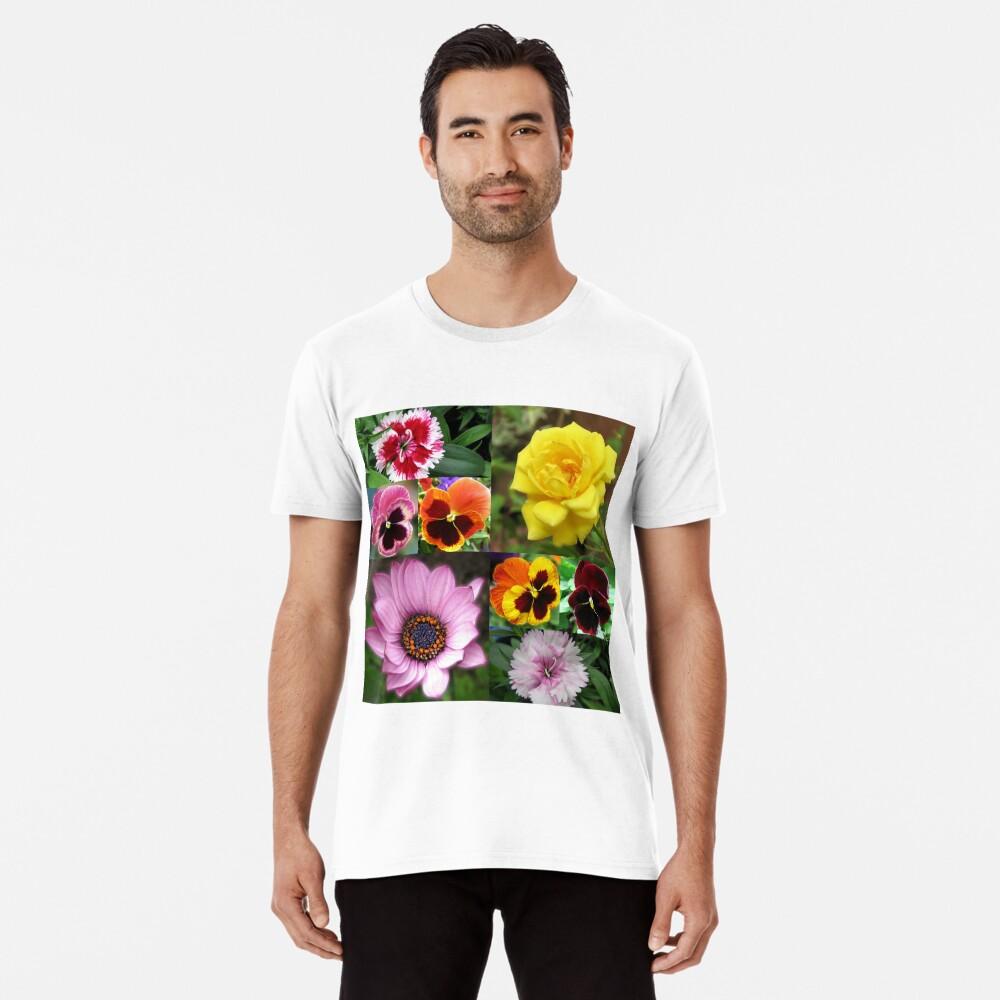 Sunkissed Summer Flowers Collage - ungerahmt Premium T-Shirt