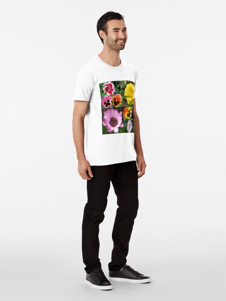 Alternative Ansicht von Sunkissed Summer Flowers Collage - ungerahmt Premium T-Shirt