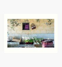 Pachino Tomato Growers Front Yard Art Print