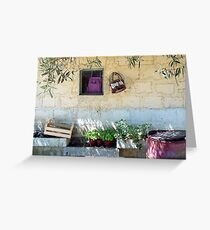 Pachino Tomato Growers Front Yard Greeting Card