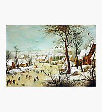 HD. Winter Landscape , by Pieter Bruegel the Elder. HIGH DEFINITION Photographic Print