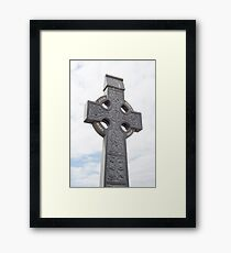 celtic cross from a grave yard Framed Print